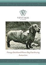 Vintage Visage patrón de costura con tamaño completo piezas de papel para Retro de perro salchicha Wiener Perro Abrigo