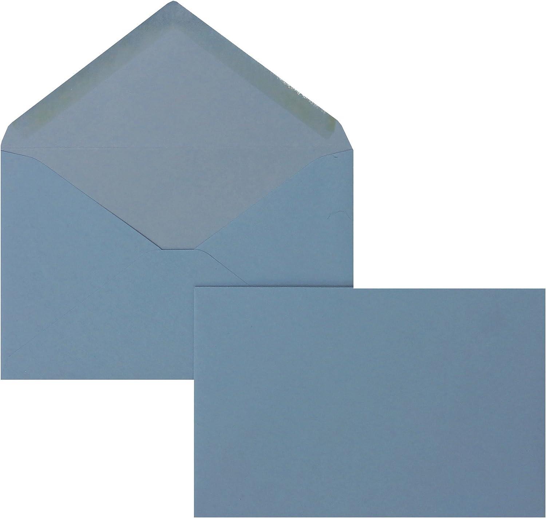 Blanke Briefhüllen - 100 Briefhüllen im Format 95 x 145 mm in Blau B00FPO8Z44 | Deutschland Shop