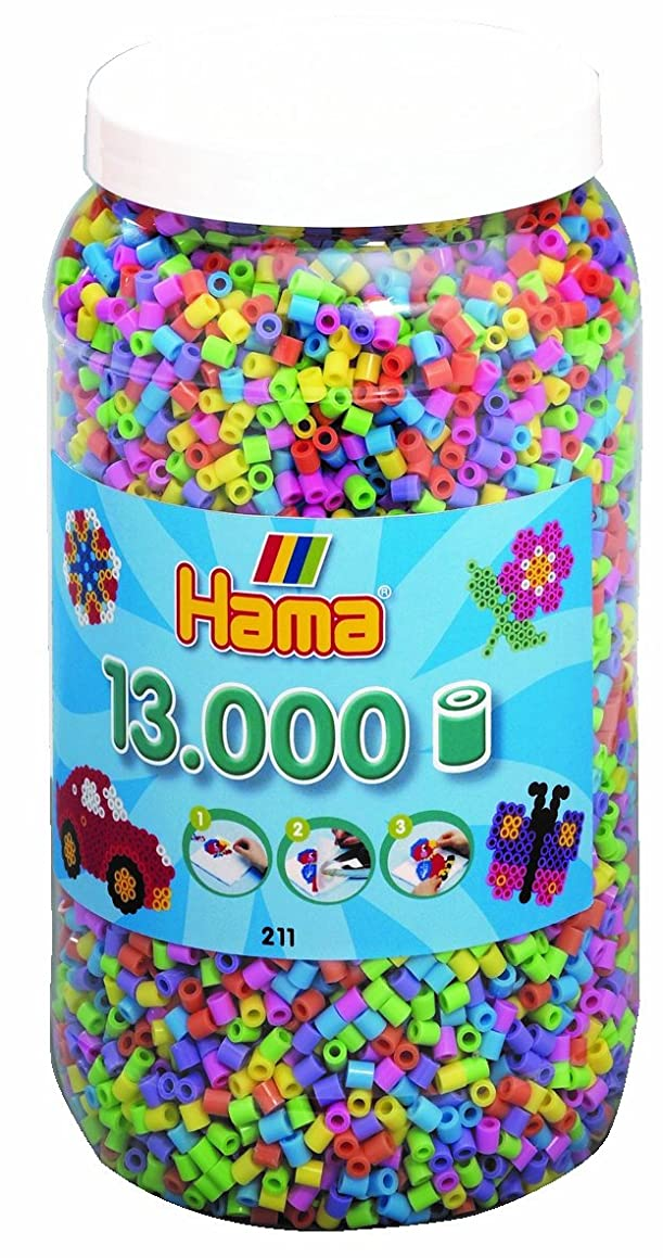 Hama Beads Pastel Mix in Tub
