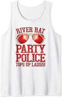 Mens River Rat Party Police Tank Top
