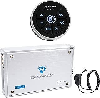 "4 Memphis Audio MXA602SB 80 Watt 6.5/"" Black Marine Waterproof Speakers For Boat"
