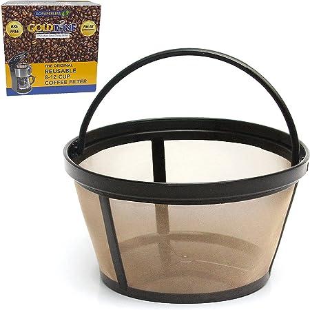 GOLDTONE Filtro de café reutilizable de 8 a 12 tazas para cafeteras Mr. y Brewers, sin BPA