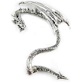 Uteruik /À La Mode pour Femmes Oriental Dragon Boucle doreille Boucle doreille Clip