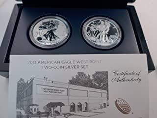 2013 W Silver Eagle Two coin West point mint reverse proof set