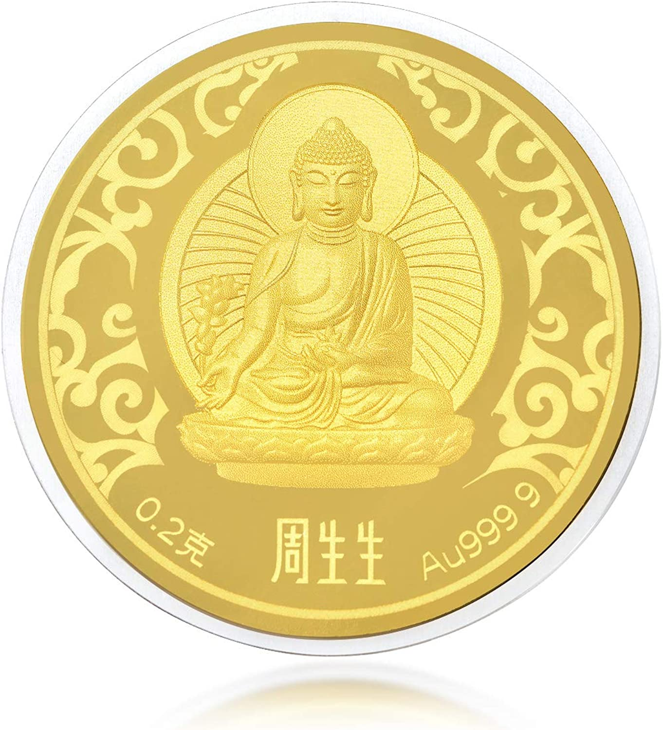 Chow Sang Sang 999.9 24K Pure Gold Ingot The Medicine Buddha Cultural Blessings Gift 91818D