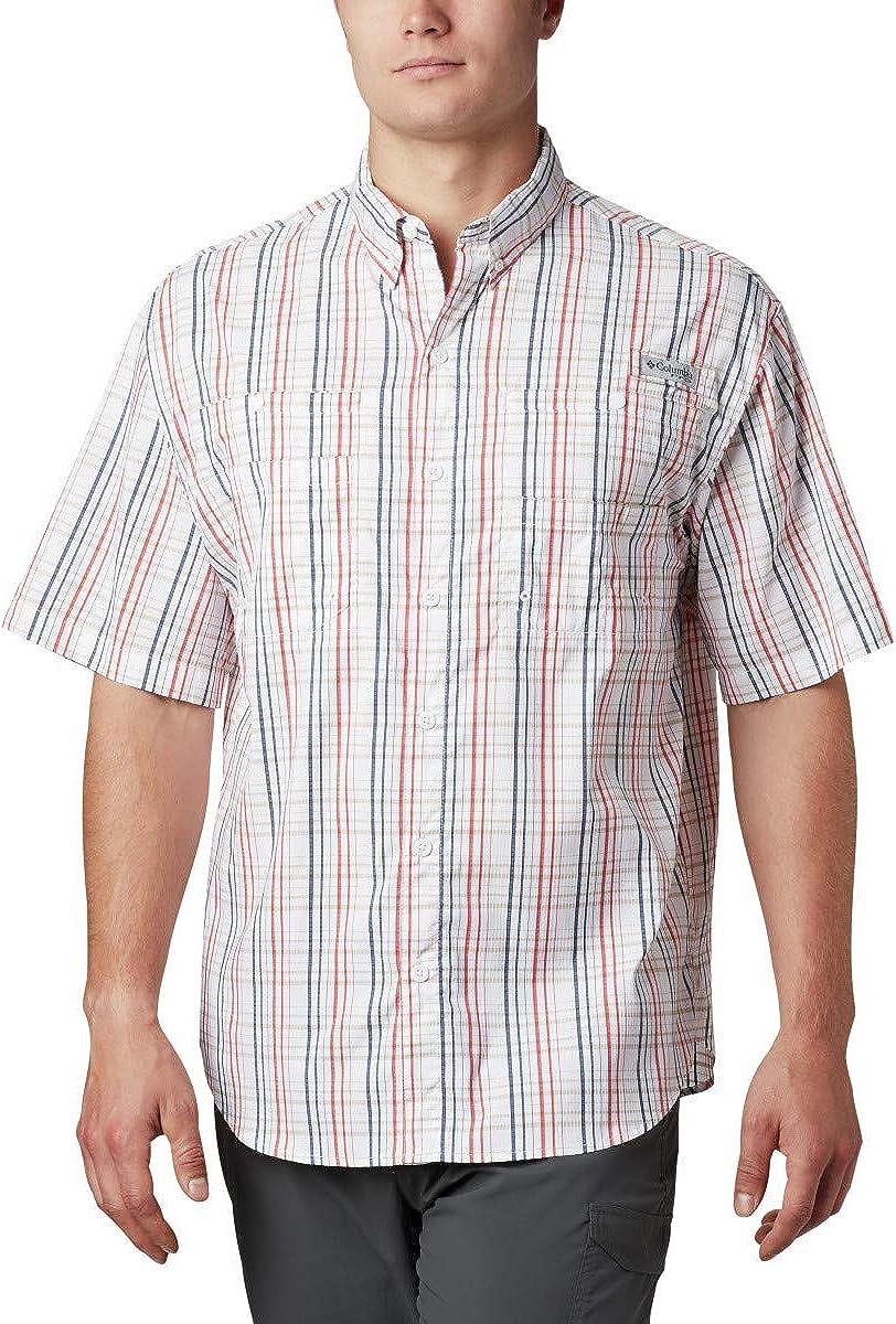Columbia Men's PFG Super Tamiami Short Sleeve Shirt, UPF 40 Sun Protection, Wicking Fabric