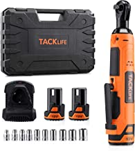 "TACKLIFE Cordless Electric Ratchet Wrench 3/8"" 45 Ft-lbs Li-Ion Batteries 60-Min Fast Charge Power Ratchet Wrench Tool Kit..."