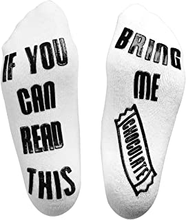 Chocolate Socks - If You Can Read This Bring Me Chocolate Socks - funny gifts Ideas for Women, Men, boys - cool Christmas stocking filler gift
