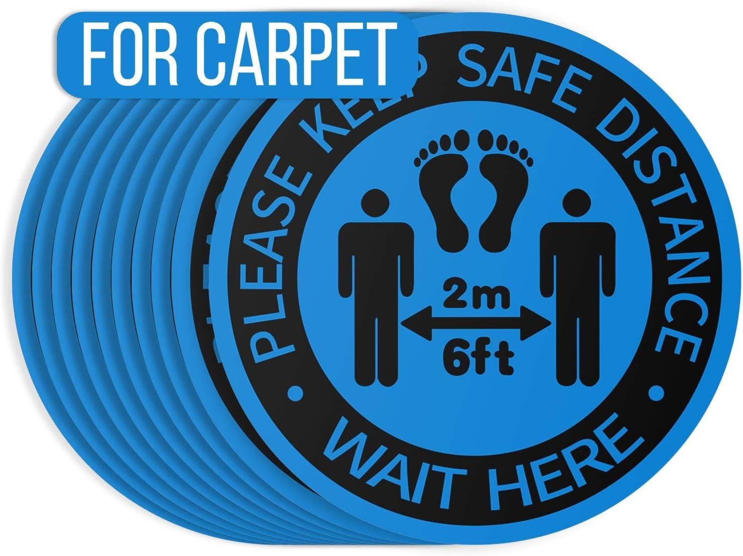 Social Distancing Floor Decals for Carpet 12
