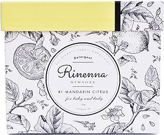Rinenna #1 (リネンナ) つけおきメイン 洗濯用洗剤 1kg (マンダリンシトラスの香り) つけ置き 洗剤 粉末 (ギフトにもおすすめ)