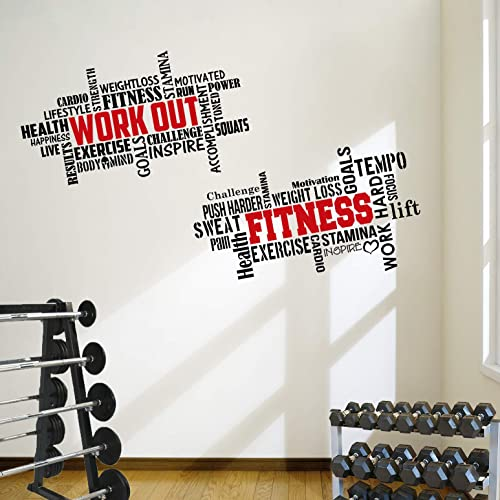 Gym wall motivational quotes amazon