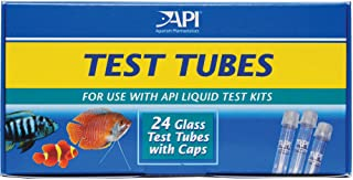 API REPLACEMENT TEST TUBES WITH CAPS For Any Aquarium Test Kit Including API Freshwater Master Test Kit 24-Count Box