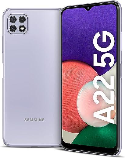 هاتف ذكي جالكسي ايه 22 من سامسونج-64 جيجا، 4 جيجا RAM، 5G، بنفسجي (نسخة المملكة العربية السعودية)