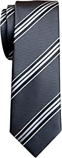 "Retreez Classic Regimental Wide Striped Woven Microfiber 2"" Skinny Tie"