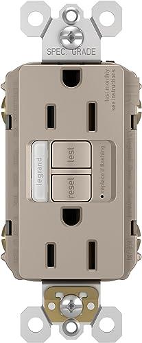 2021 Legrand radiant online sale Night Light, high quality Self-Test GFCI Outlets, Safe for Kids, Tamper Resistant, Brushed Nickel, 15 Amp, 1597NTLTRNICC4 sale