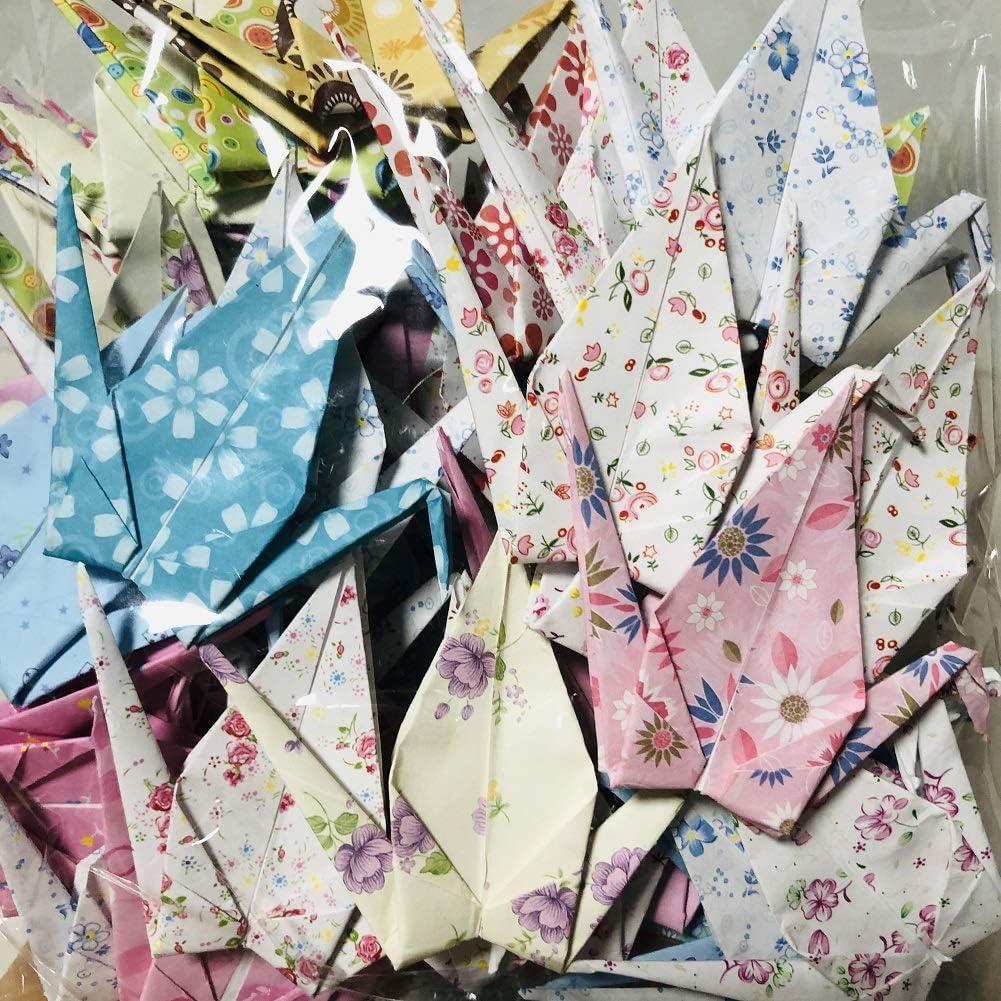 "Surprise price 50Pcs New product 5.9"" Big Size Floral Premade Cranes Paper Fol Origami"