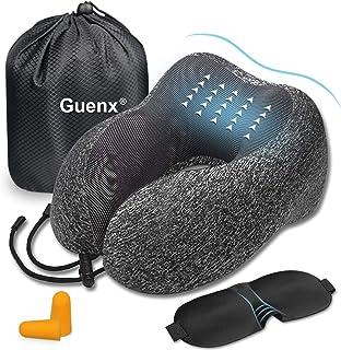 comprar comparacion Guenx Almohada de Viaje, Avión Almohada Cervical | Almohada Ortopédica Cervical | Cojin Travel Pillow Reposa Cabezas, Kit ...