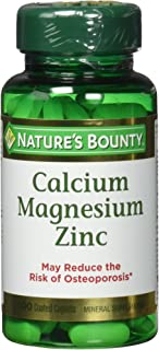 Nature's Bounty Calcium-magnesium-zinc Caplets, 300 Caplets (3 X 100 Count Bottles)