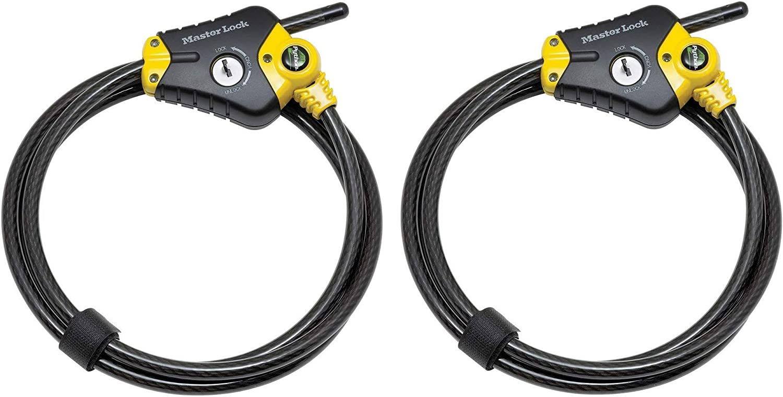 Python Adjustable Locking Cable Black and 8 diam Yellow Nashville-Davidson Mall 3 x Max 56% OFF 6'