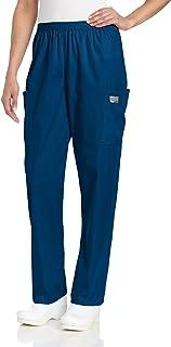 Landau Women's Durable 2-Pocket Elastic Waist Classic Fit Cargo Scrub Pant