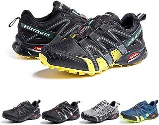 Zapatillas De Trail Running Impermeables para Hombre Mujer Zapatillas Trekking Zapatos Senderismo Deporte Amarillo Talla38