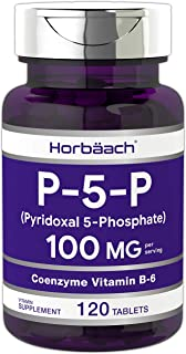 Horbaach P5P Activated Vitamin B6 100 mg 120 Tablets | Vegetarian, Non-GMO, Gluten Free | Pyridoxal-5-Phosphate | Coenzymed Vitamin B6