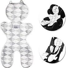 Baby Sitzauflage Kinderwagen, Samione Atmungsaktive Sitzeinlage Universal Sitzauflage für Kinderwagen, Buggy, Autositz und Babyschale - Schützt den Sitzbezug vor Flecken Dicker