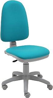 La Silla de Claudia - Silla de Escritorio giratoria Torino Gris ergonómica para Oficina y hogar con Contacto Permanente (Turquesa)
