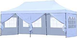 HYD-Parts Outdoor Patio 10x20 Ft Pop up Canopy Party Wedding Gazebo Tent (10x20 Ft (07) White)