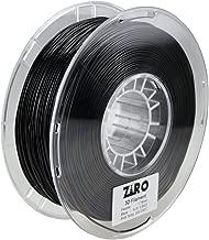 ZIRO 3D Printer Filament 1.75mm TPU Flexible Filament 0.8KG Spool, Dimensional Accuracy +/- 0.05mm, Black