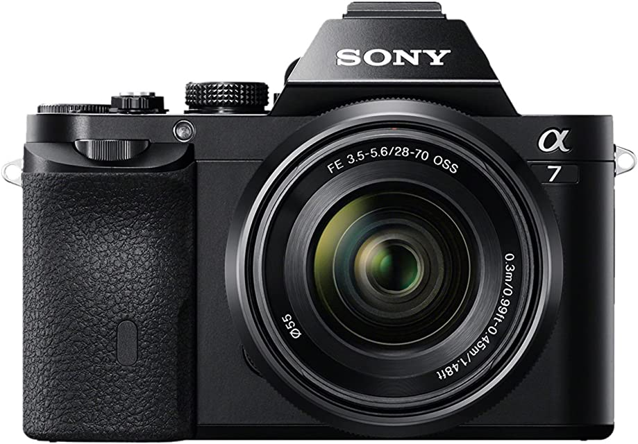 Sony Alpha ILCE-7K - Cámara Evil (Sensor Full Frame de 35 mm 24.3 MP procesado en 16 bits Visor OLED vídeo Full HD Wi-Fi y NFC Objetivo 28-70 mm f/3.5-5.6 OSS) Color Negro