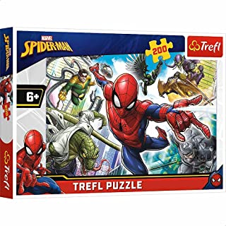 Trefl 13235 Spiderman Shaped Puzzle - 200 Pieces