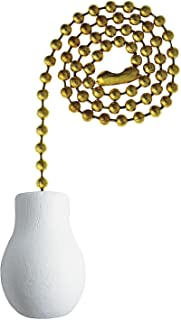 Westinghouse 7701400 White Wood Knob Pull Chain