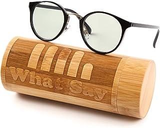 What Say ゴールドブリッジ クラシックフレーム カラーレンズ サングラス クリアレンズ 伊達メガネ 全25色 アジアンフィット トレンド UV400 メンズ レディース ソフト & ハードケース 付