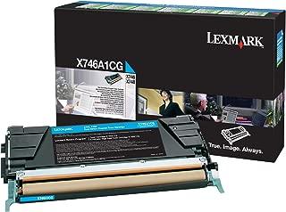 Lexmark X746A1CG X746 X748 Toner Cartridge (Cyan) in Retail Packaging