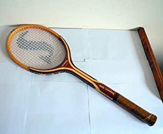 John Alexander Signature Spalding Wood Tennis Racket Racquet Belgium White Ash