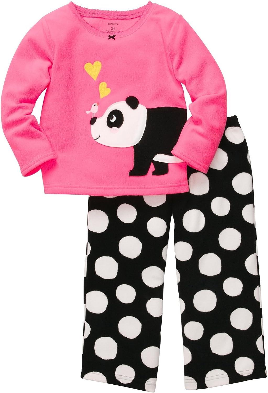 Carter's Girls' 2 Pc L/S Embroidery Set-Panda Spots
