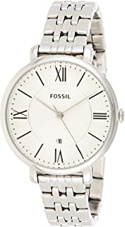 Fossil Jacqueline For Women Silver Dial Stainless Steel Band Watch ES3433, Analog
