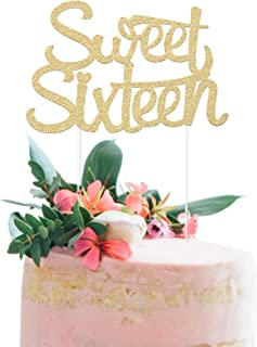 16th Birthday Cake Topper - SWEET SIXTEEN - 7