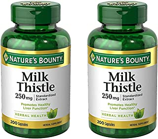 Set of 2 Nature's Bounty Milk Thistle 250 mg, 200 Capsules by Maven Gifts