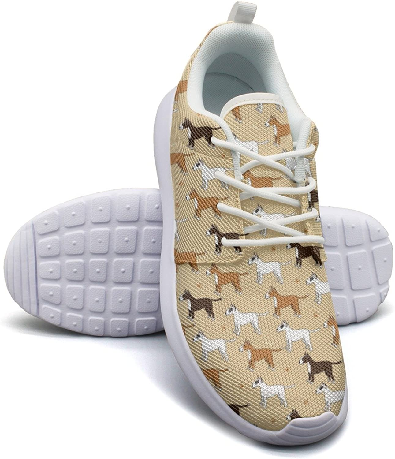 Playing Dog Funny Purebred Puppy Running shoes Women Wide size 7.5