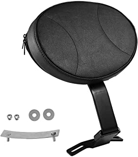 INNOGLOW Motorcycle Adjustable Backrest Driver Rider Back Rest Passenger PU Pad for Harley Heritage Softail Fatboy 2007-2017