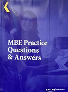 2016 Kaplan PMBR Bar Review MBE Practice Questions and Answers PMBR5090G
