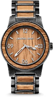 Original Grain Wood Wrist Watch | Barrel Collection Analog Watch | Japanese Quartz Movement | Wood and Stainless Steel