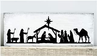 Nativity Scene Vinyl Lettering Wall Decal Sticker (6