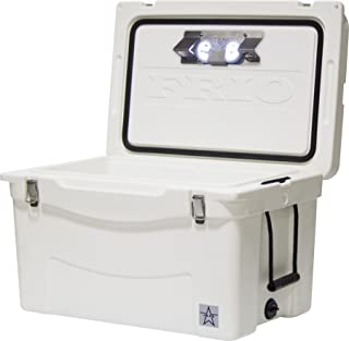 Frio 45Qt White Hard Side with Built-in Motion Sensitive Light Bar with Bottle Openers