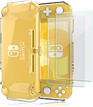 ProCase Nintendo Switch Lite Clear Case, Slim Crystal Clear Soft TPU Cover Anti-Scratch Protective Case for Nintendo Switch Lite 2019 with 2 Pack Tempered Glass Screen Protectors –Clear