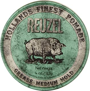 REUZEL Grease Medium Hold Pomade, Green, 4 oz.
