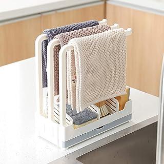 Qisiewell Organisateur d'évier 3 supports solides pour torchons de cuisine Porte-ustensiles de cuisine Égouttoir Porte-épo...