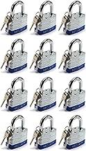Elitexion Heavy Duty Laminated Steel Padlock, Commercial Grade Keyed Alike 1-Inch (Pack of 12)